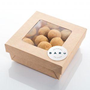 Caja de croquetas caseras de pollo con castañas. Tapas a domicilio Madrid