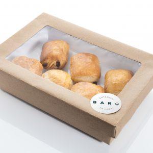 Caja de napolitanas. Canapés dulces. Bollería a domicilio Madrid