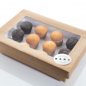 Caja de magdalenas. Canapés dulces. Bollería casera a domicilio Madrid