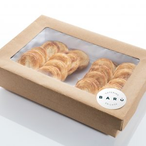 Caja de palmeritas. Canapés dulces a domicilio Madrid